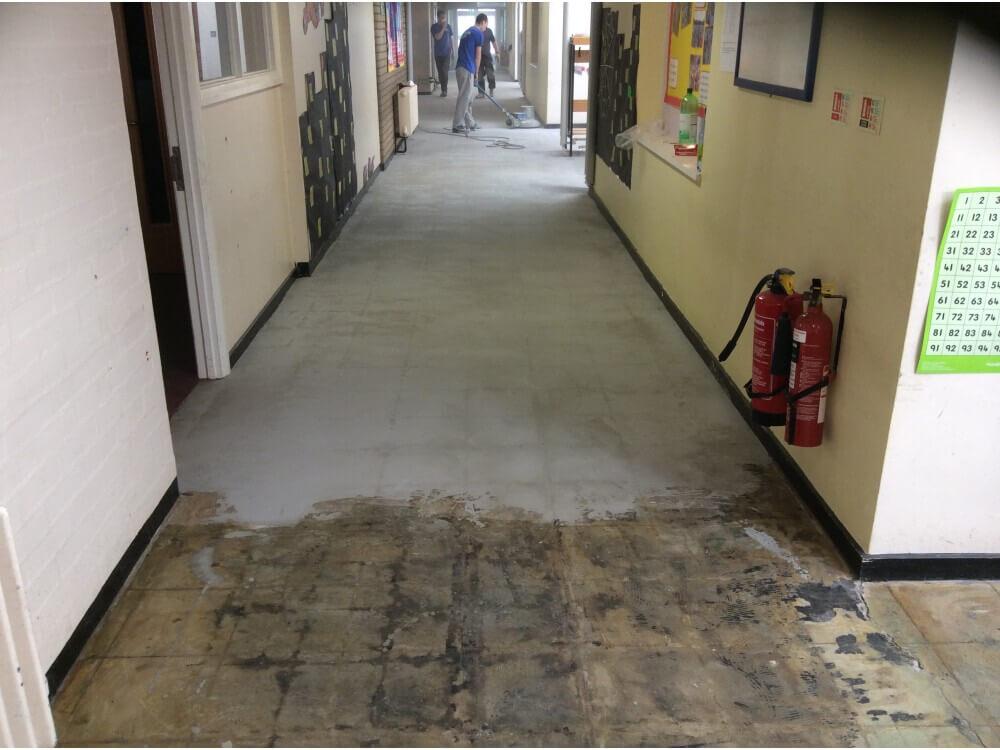 Corridor Partly Prepared