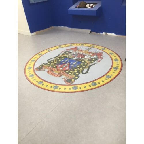 Customers Imaged trimmed into Forbo Flooring - London 2