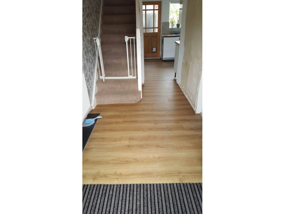 Elements Woodplank vinyl and Forbo Coral Duo Matting installed 2