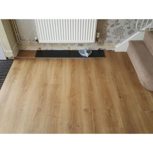 Elements Woodplank vinyl and Forbo Coral Duo Matting installed