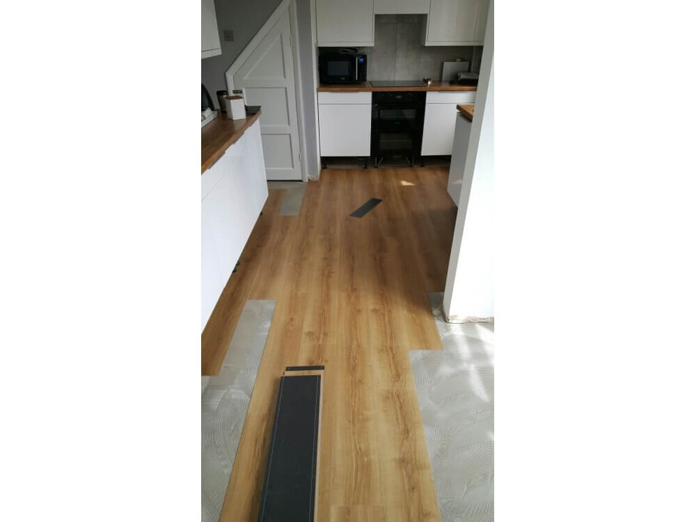 Elements Woodplank vinyl starting to be installed 2