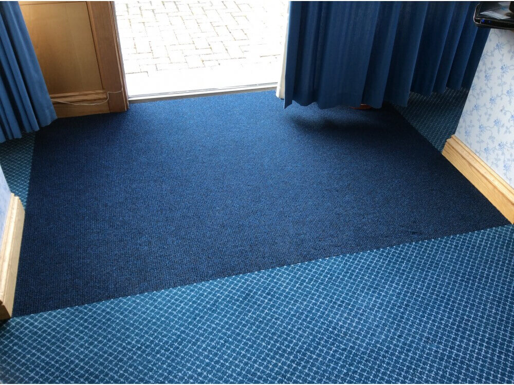 Entrance Matting joined to customers own carpet - Gillingham, Kent