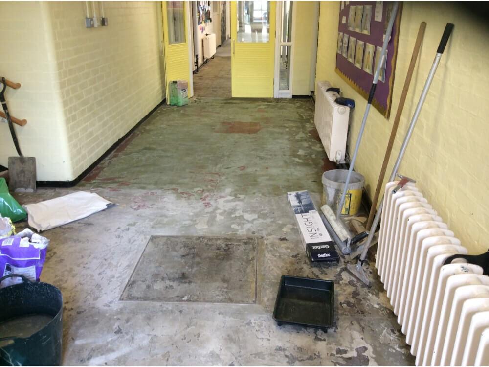 Entrance Way Corridor Vinyl Uplifted
