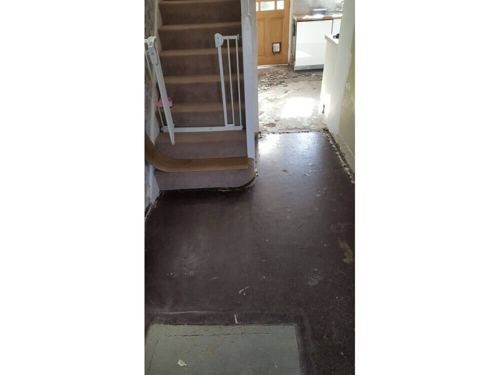 Existing Flooring Uplifted - Kent 2