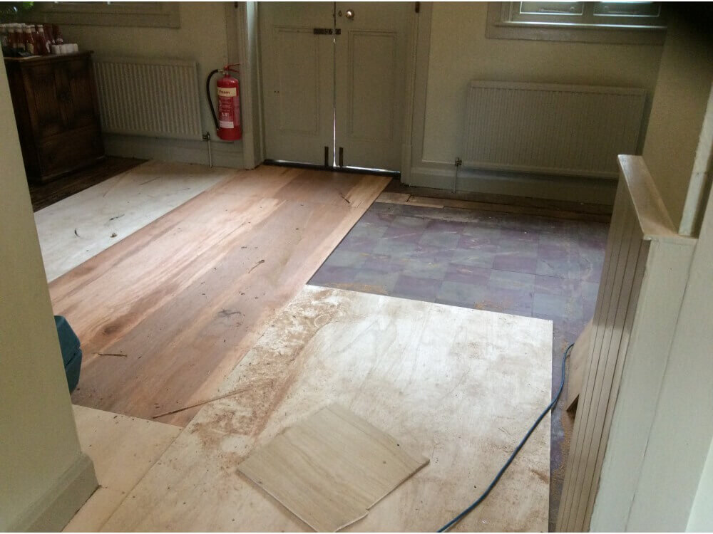Floor being plyed with 8mm plywood - Farnborough, Kent