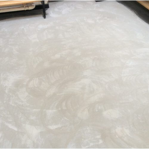 Floor preparation completed