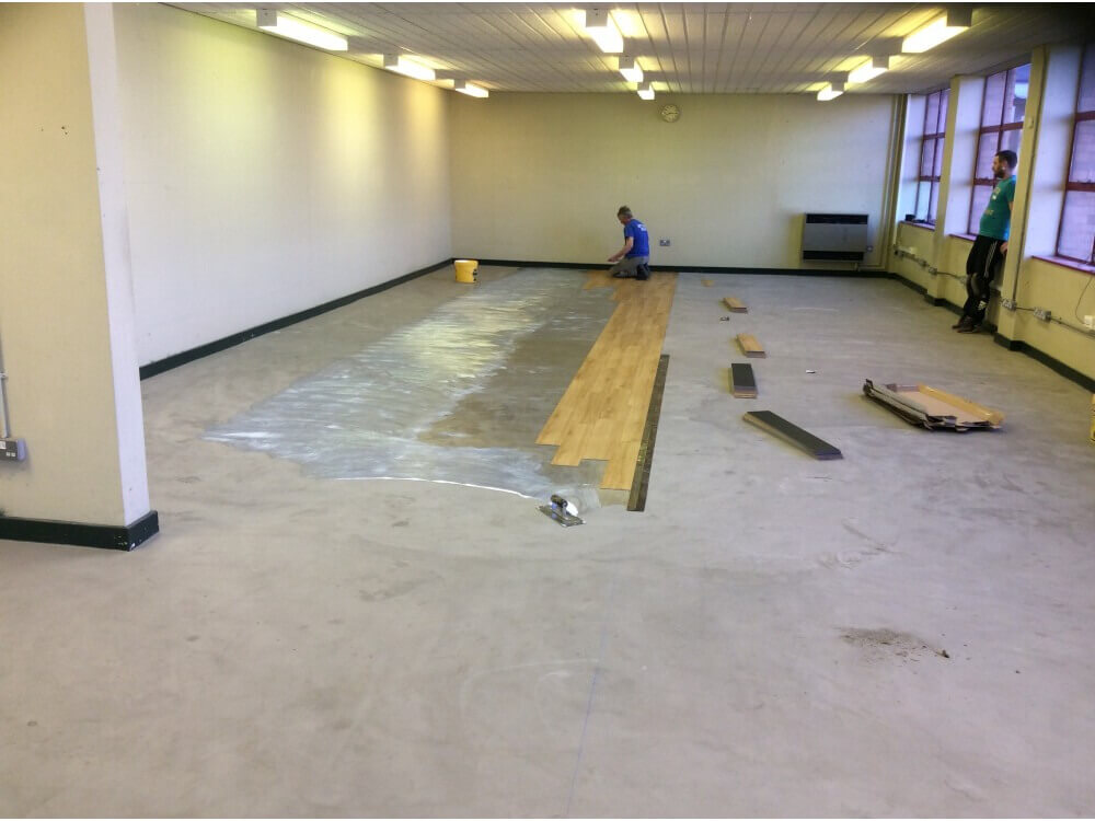 Library Prepared and woodplank vinyl installation starting