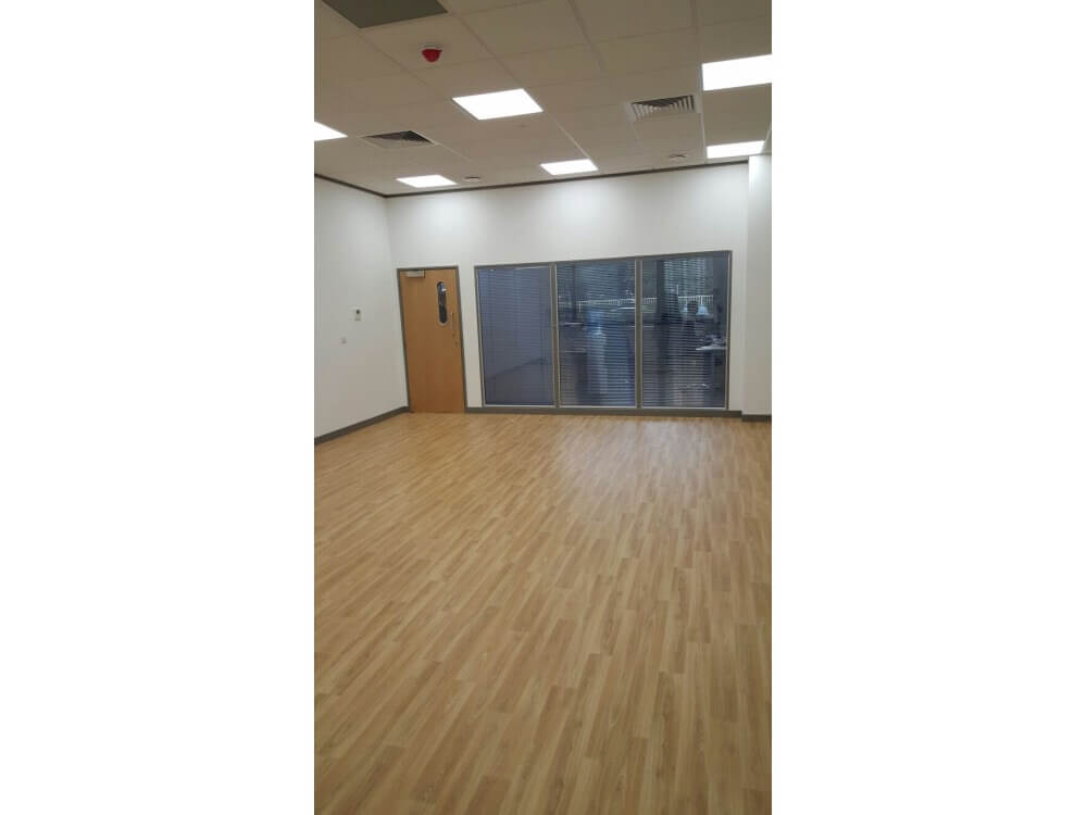 Polyflor Forest Fx sheet vinyl - Office - Crawley, West Sussex
