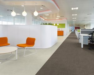 THE PENINSULA, ID:SR/SHEPPARD ROBSON, MANCHESTER, 2010, OPEN PLAN OFFICE WITH COLOUR-CODED AREAS