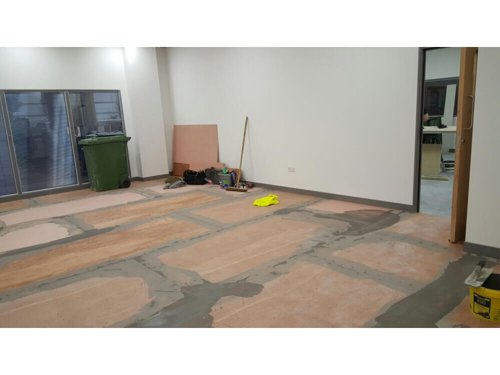 Sub-floor preparation - Office - Crawley, West Sussex 2