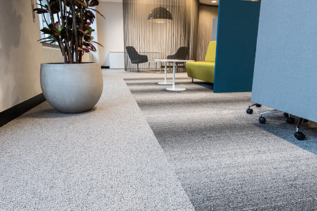 Office floor carpet tiles